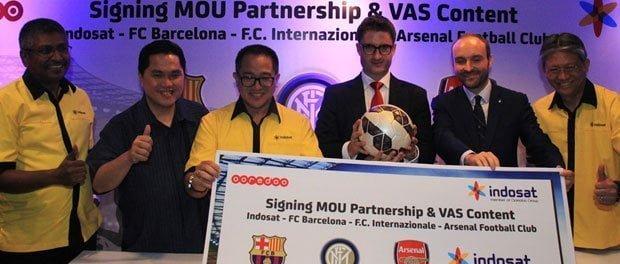 Indosat-Intermilan-Arsenal-Barca