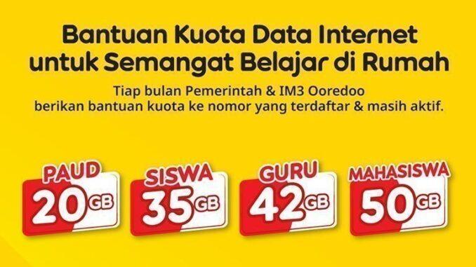 Kuota Data Internet IM3 Ooredoo