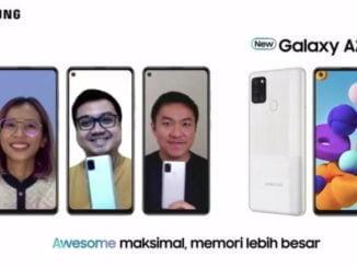 Galaxy A21s Silver dengan Memori Lebih Besar