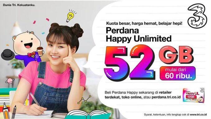 Perdana Happy Unlimited 52GB