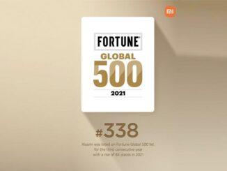 Xiaomi Raih Posisi 338